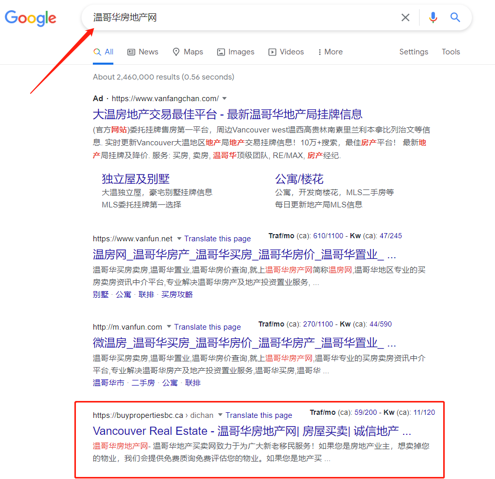 Chinese SEO Vancouver