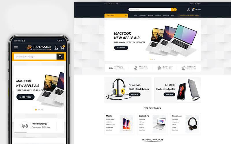 electronics Website Design Vancouver